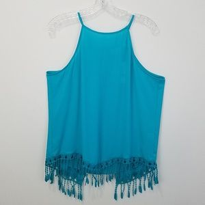 Festival tank with fringe NWT